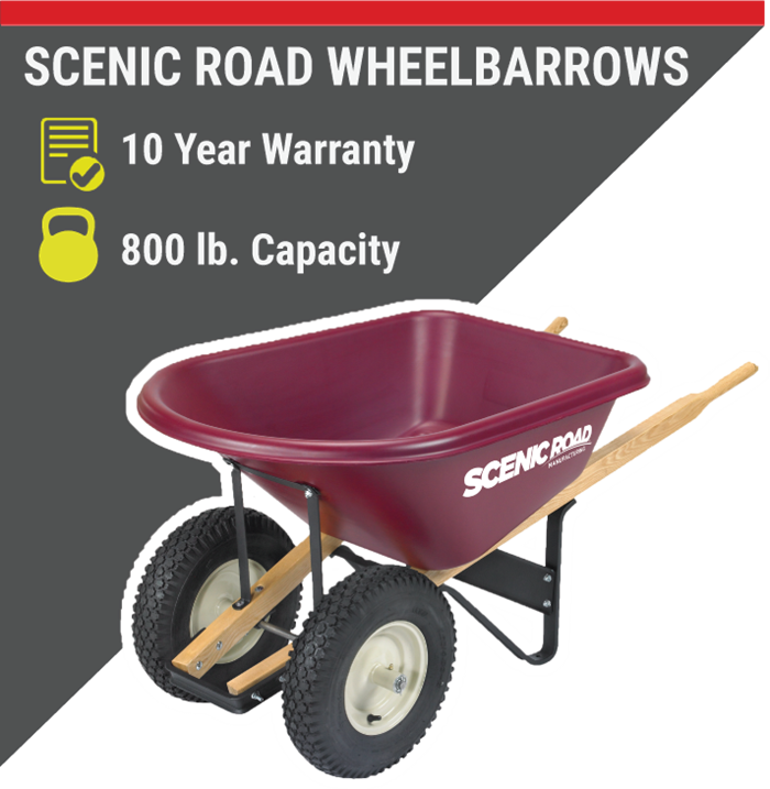 SCENIC ROAD WHEELBARROWS